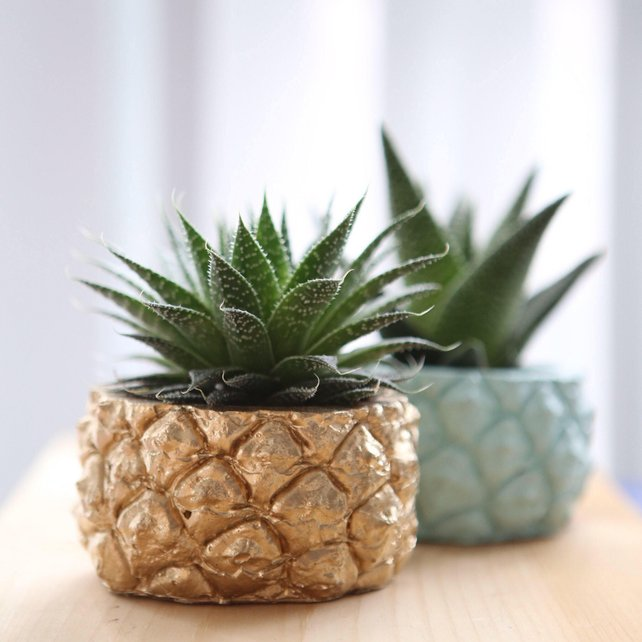 Concrete pineapple planter by Modern Plant Life